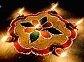 Rangoli on Diwali 2020 at Moga, Punjab, India.jpg