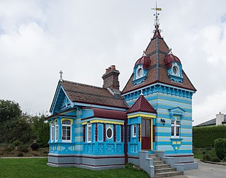 County Wexford - The colourful lodge at the entrance to Rathaspeck Manor golf course