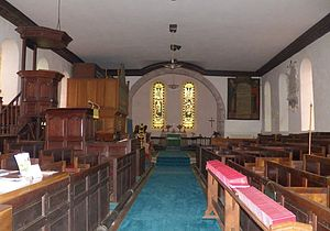 Ravenstonedale - Image: Ravenstonedale priory interior east