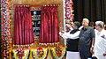 Ravi Shankar Prasad unveiling the foundation stone for International Gateway (internet connectivity), at Rabindra Shatabarshiki Bhavan, in Agartala. The Governor of Tripura.jpg