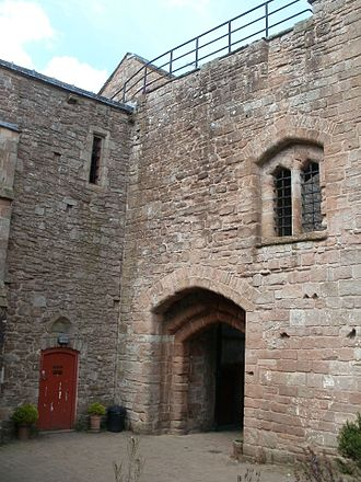 St Briavels Castle - The inner face of St Briavels Castle gatehouse.