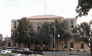 The Reeves County Courthouse located at 31.424...