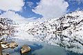 Reflection of snow covered mountains in Changu Lake.jpg
