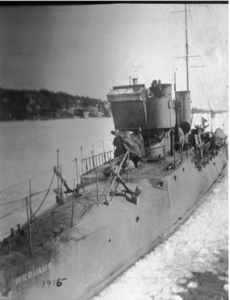 1.-class torpedo boat - The Swedish torpedo boat Regulus in 1915