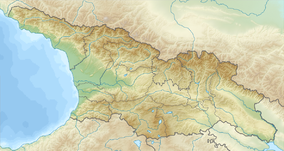 Map showing the location of Tbilisi National Park