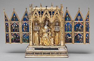 Reliquary - Reliquary Shrine, French, c 1325–50, The Cloisters, New York