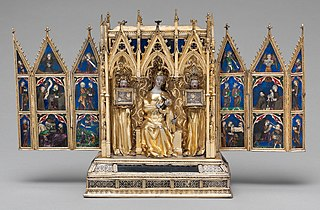 Reliquary container for religious relics