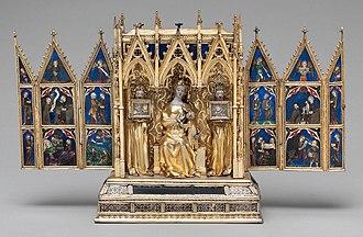 Reliquary Shrine (de Touyl) - Reliquary Shrine, Open: 25.4 × 40.6 cm. The Cloisters, New York