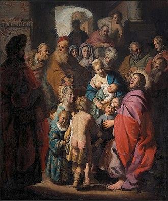 Suffer little children to come unto me - Image: Rembrandt Young children