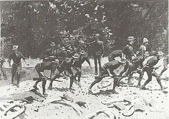 Battle of San Juan Hill - At the Bloody Ford of the San Juan by Frederic Remington, 1898