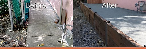 Retaining wall contractor near me in the East Bay