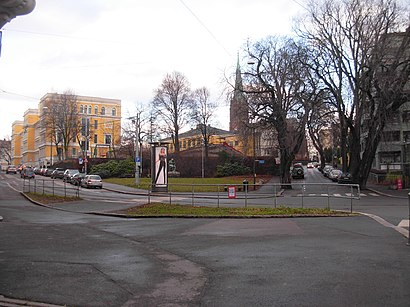 How to get to Riddervolds Plass with public transit - About the place