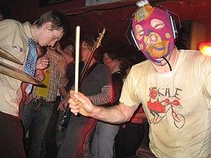 Lightning Bolt (band) - Lightning Bolt Live at the Southgate House in 2005.