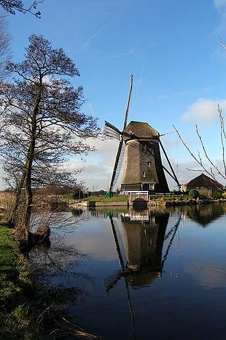 Rijnwoude - Windmill Rietveldse Molen, near Hazerswoude-Dorp