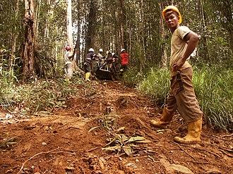 Halmahera - A rig crew looking for minerals