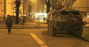 2006 Riga summit - Security measures in the streets of Riga.