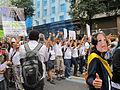 Rio+20 demonstration Keep silent.JPG