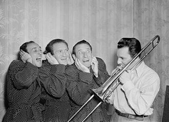 Ritz Brothers - The Ritz Brothers (Jimmy, Harry, and Al) with Buddy Morrow, c. May 1947