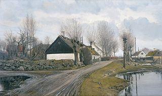 Road by the Village Pond in Baldersbrønde