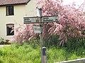 Roadsign on A1120 Yoxford Road,Sibton - geograph.org.uk - 1316446.jpg