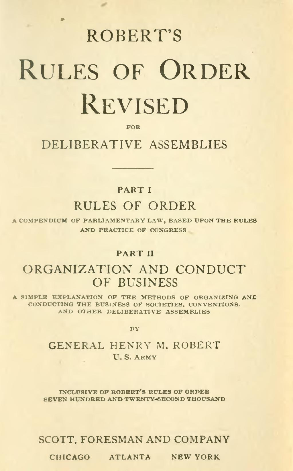 Page:Robert's Rules of Order - 1915.djvu/5 - Wikisource, the free ...