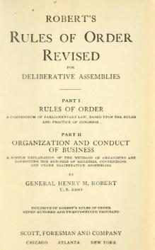 Robert's Rules of Order - 1915.djvu