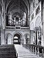 Rochuskirche in Düsseldorf, erbaut von 1894 bis 1897, Architekt Josef Kleesattel, Innenansicht zur Empore.jpg