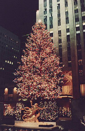 Rockefeller Center Christmas Tree, New York Ci...