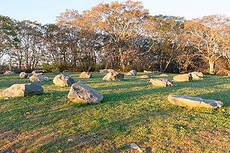 Wayah Bald - Image: Rocks atop Wayah Bald, NC