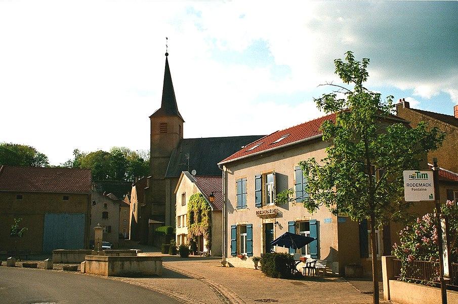 """Rodemack, the square """"Place de la Porte de Sierck"""""""