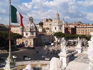 Piazza Venezia square in Rome, Italy