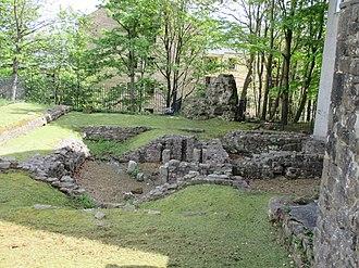History of Lancashire - Roman baths at Castle Hill, Lancaster.