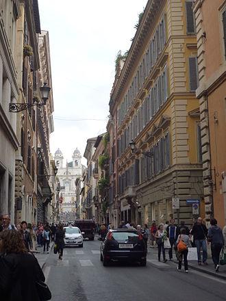 Via Condotti - The street looking towards the Spanish Steps