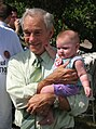 Ron Paul with baby (1206082326).jpg