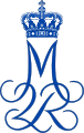 Royal Monogram of Queen Margrethe II of Denmark.svg