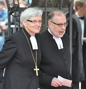 Antje Jackelén - Antje and Heinz Jackelén during the royal wedding gala in 2010.