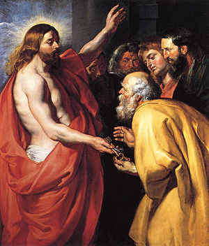 Image result for St. Peter with jesus, art