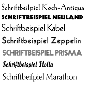 Rudolf Koch - Non-blackletter fonts designed by Rudolf Koch