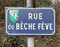 Rue de Bèche Fève (Saint-Maurice-de-Beynost) - panneau.jpg
