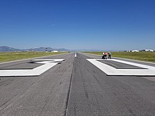 Runway Identifying numbers being painted at Rocky Mountain Metropolitan Airport [KBJC]