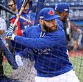 Russell Martin takes batting practice before the AL Wild Card Game. (29527542464).jpg