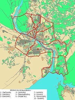 Urbaj partoj de Novosibirsko
