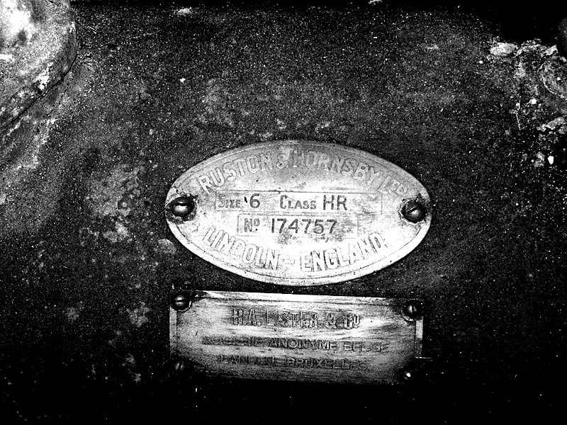Ruston & Hornsby Diesel Engine St Bernard windmill, Flanders