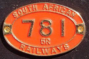South African Class 5 4-6-2 - Image: SAR Class 5R 781 (4 6 2) ID