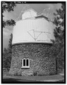 SIDE ELEVATION, LOOKING NORTH - Lowell Observatory, Pluto Dome, 1400 West Mars Road, Flagstaff, Coconino County, AZ HABS ARIZ,3-FLAG,1C-4.tif