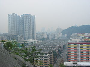 Shek Kip Mei - Shek Kip Mei Estate (foreground) in 2006. The area on the left has since been redeveloped to new Shek Kip Mei Estate in 2012