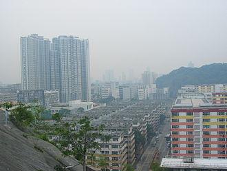 Shek Kip Mei - Shek Kip Mei Estate (foreground) in 2006. The area on the left has since been redeveloped to new Shek Kip Mei Estate in 2012