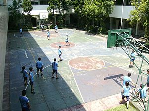 "Physical education - Indonesian high school students playing the traditional game ""Benteng"""