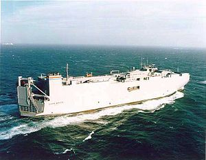 MV Cape Wrath (T-AKR-9962) - SS Cape Wrath underway