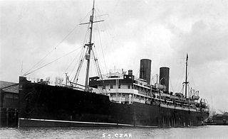 SS <i>Czar</i> ocean liner for the Russian American Line before World War I